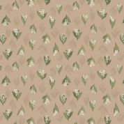 Lewis & Irene Flo's Wildflowers - 5438 - Lilly of the Valley on Beige - FLO11.2 - Cotton Fabric